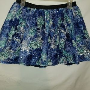 Girls size 18 Sequined Rosette Mesh Skirt